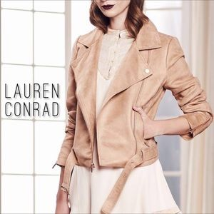 Faux Suede Moto Jacket by Lauren Conrad Runway